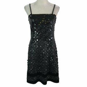 Citrine Sequins Sparkle Low Back Straps Dress